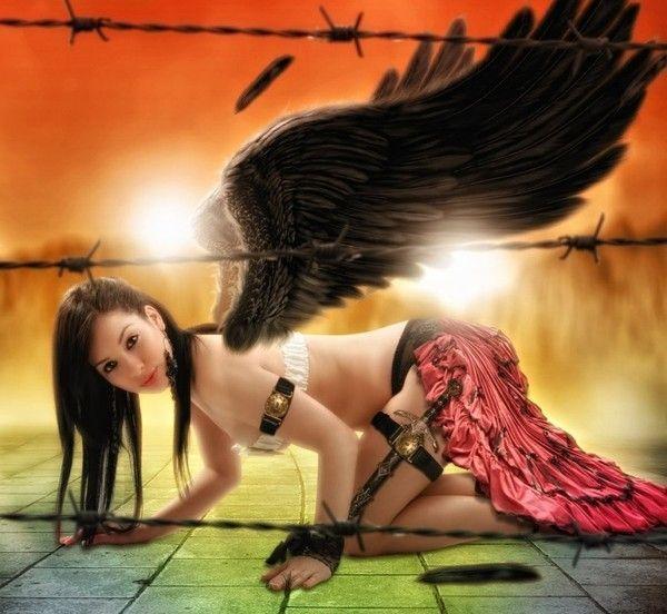 473bdd16 dans fond ecran ange noir