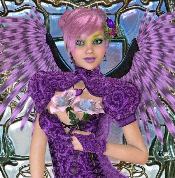 dans fond ecran ange violet a6173c75