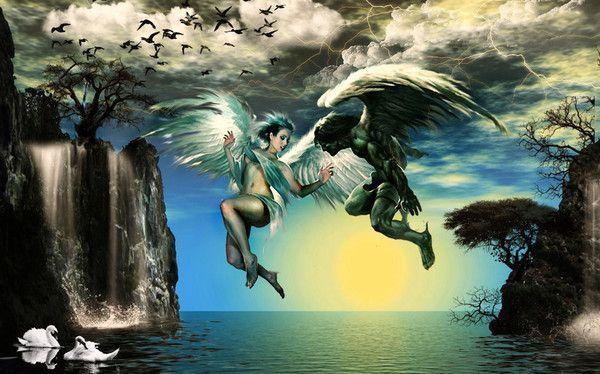 dans fond ecran d'anges couple b640632e