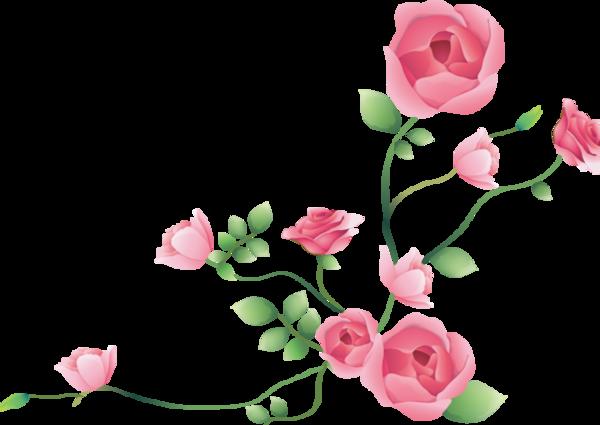 tube coin fleurs - .