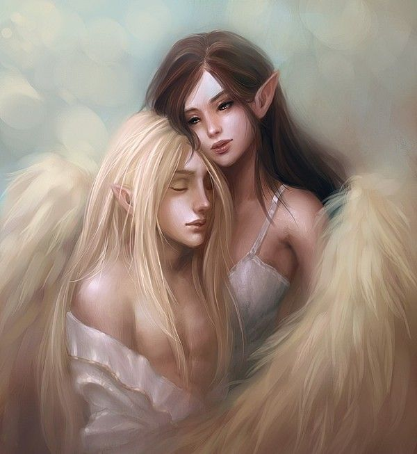dans fond ecran d'anges couple fa52d3b6