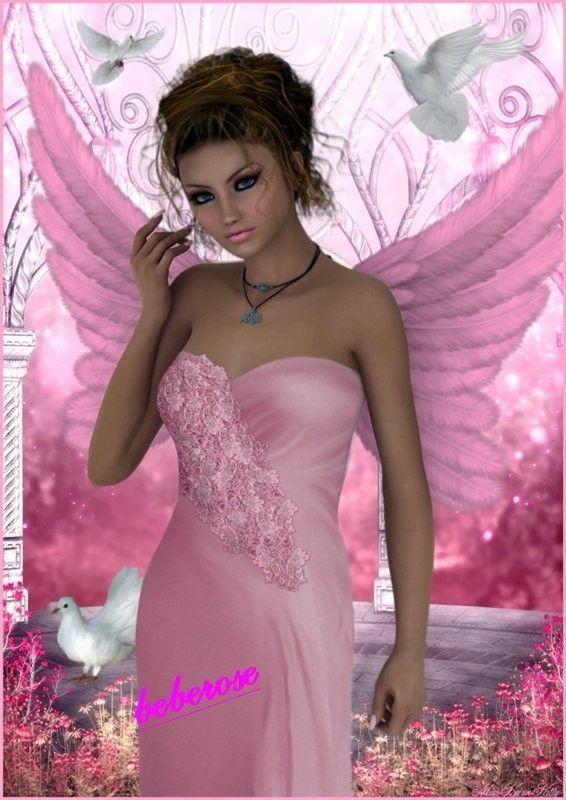 dans fond ecran ange rose fc207acc